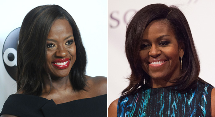 Viola Davis and Michelle Obama (Jason LaVeris/FilmMagic; Leah Puttkammer/FilmMagic)