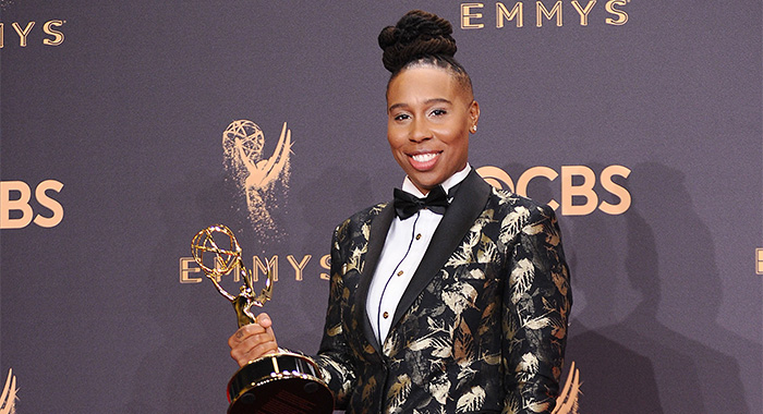 LOS ANGELES, CA - SEPTEMBER 17: Actress Lena Waithe poses in the press room at the 69th annual Primetime Emmy Awards at Microsoft Theater on September 17, 2017 in Los Angeles, California. (Photo by Jason LaVeris/FilmMagic)