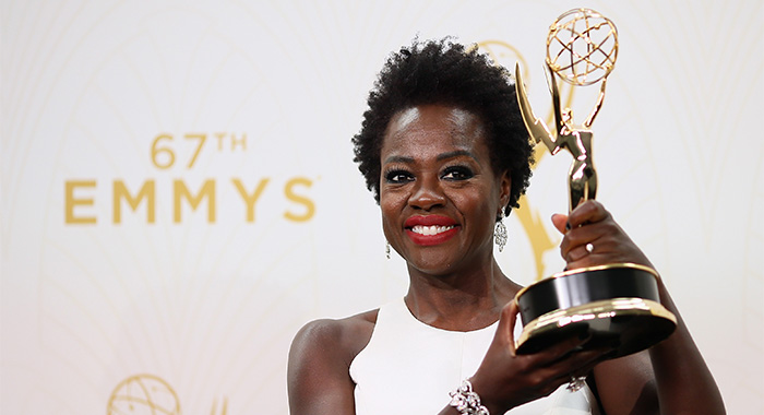LOS ANGELES, CA - SEPTEMBER 20: Actress Viola Davis, winner of the award for Outstanding Lead Actress in a Drama Series for 'How to Get Away With Murder', poses in the press room at the 67th Annual Primetime Emmy Awards at Microsoft Theater on September 20, 2015 in Los Angeles, California. (Photo by Mark Davis/Getty Images)
