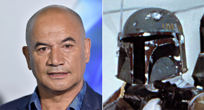 A photo of Temuera Morrison and another of Boba Fett in STAR WARS EPISODE V: THE EMPIRE STRIKES BACK