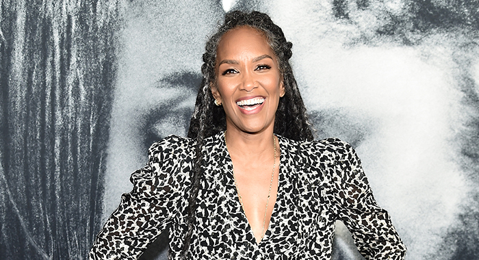 "Mara Brock Akil attends the world premiere of ""The Photograph"" World at SVA Theater on February 11, 2020 in New York City. (Photo by Steven Ferdman/Getty Images)"