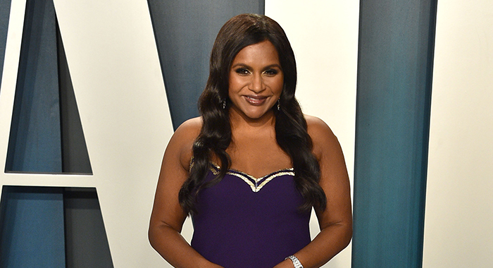 Mindy Kaling attends the 2020 Vanity Fair Oscar Party at Wallis Annenberg Center for the Performing Arts on February 09, 2020 in Beverly Hills, California. (Photo by David Crotty/Patrick McMullan via Getty Images)