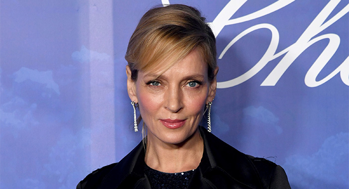 BEVERLY HILLS, CALIFORNIA - FEBRUARY 06: Uma Thurman arrives at the 2020 Hollywood For The Global Ocean Gala Honoring HSH Prince Albert II Of Monaco at Palazzo di Amore on February 06, 2020 in Beverly Hills, California. (Photo by Kevin Winter/Getty Images)