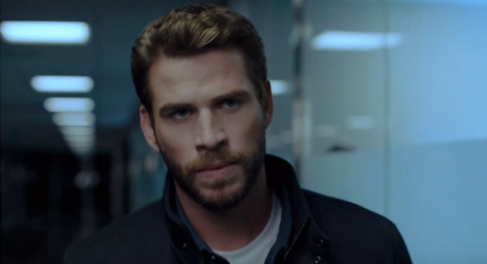 Liam Hemsworth in Most Dangerous Game trailer-screencap (Quibi)