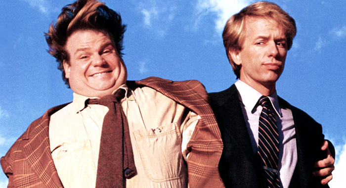 Chris Farley and David Spade on the Tommy Boy poster