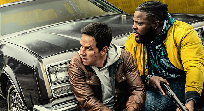 Mark Wahlberg and Winston Duke in keyart for Netflix film Spenser Confidential