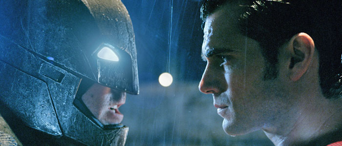 Ben Affleck and Henry Cavill as Batman and Superman in Batman v. Superman: Dawn of Justice