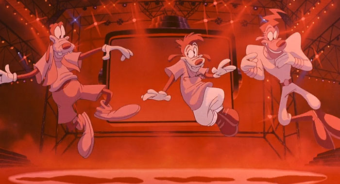 Goofy, Max, and Powerline in A Goofy Movie