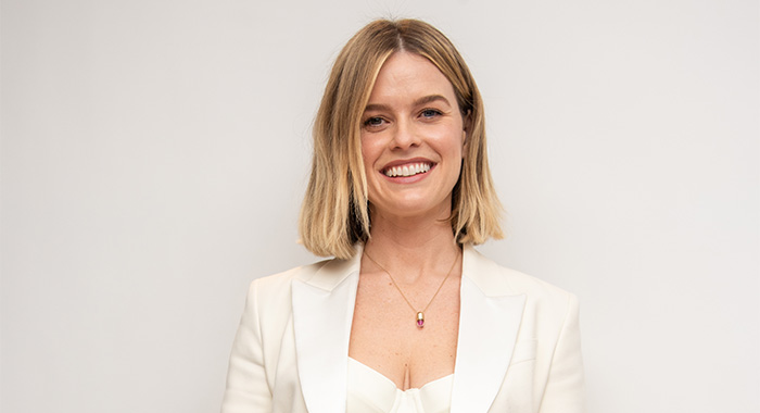 "Alice Eve at the ""Belgravia"" Press Conference, March 1, 2020, in London"