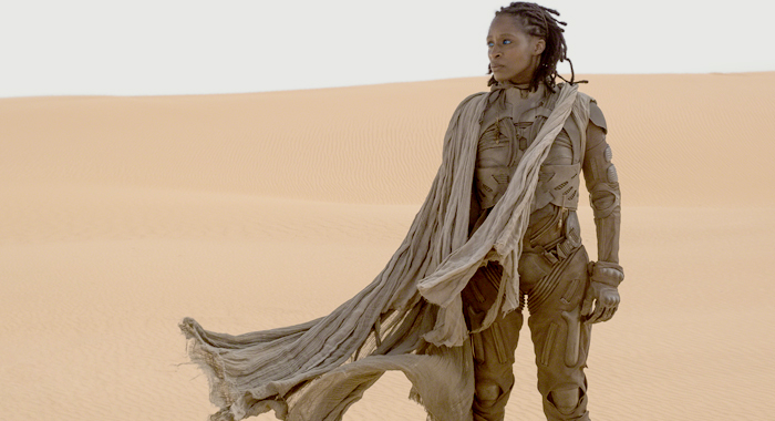 Sharon Duncan-Brewster as Liet Kynes in Dune