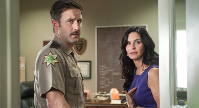David Arquette and Courteney Cox in Scream 4