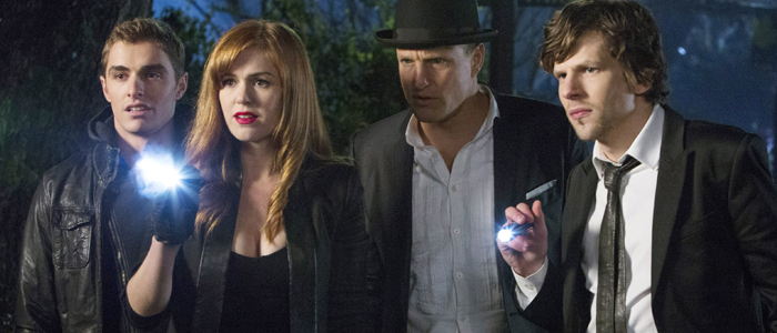 Dave Franco, Isla Fisher, Woody Harrelson, and Jesse Eisenberg in Now You See Me (2013)