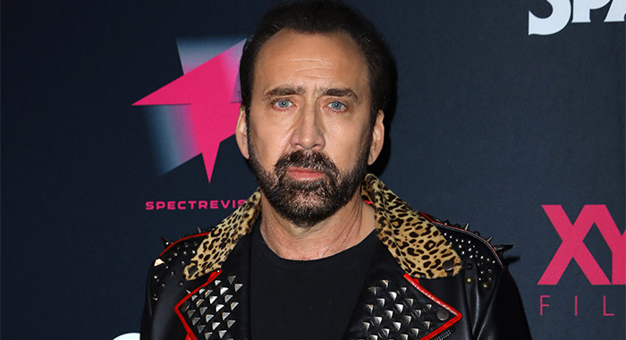 "Nicolas Cage at a screening of ""Color Out Of Space"" in January 2020"