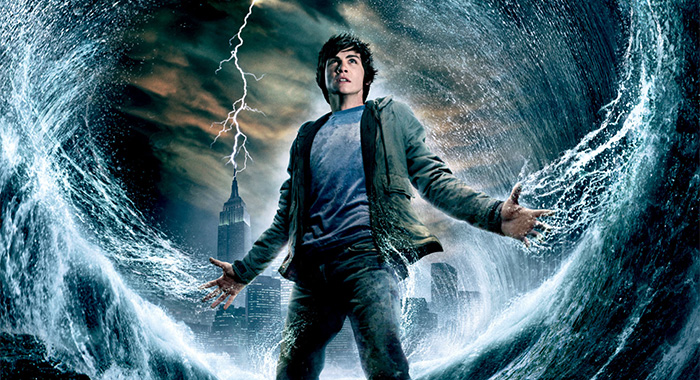 Logan Lerman in PERCY JACKSON & THE OLYMPIANS: THE LIGHTNING THIEF poster