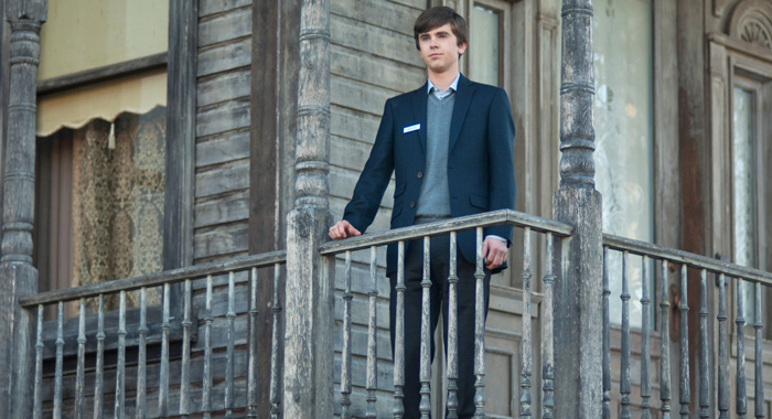 Freddie Highmore in Season 5 of Bates Motel