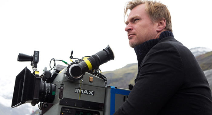 Christopher Nolan on the set of Interstellar