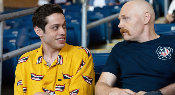 Pete Davidson and Bill Burr in The King of Staten Island