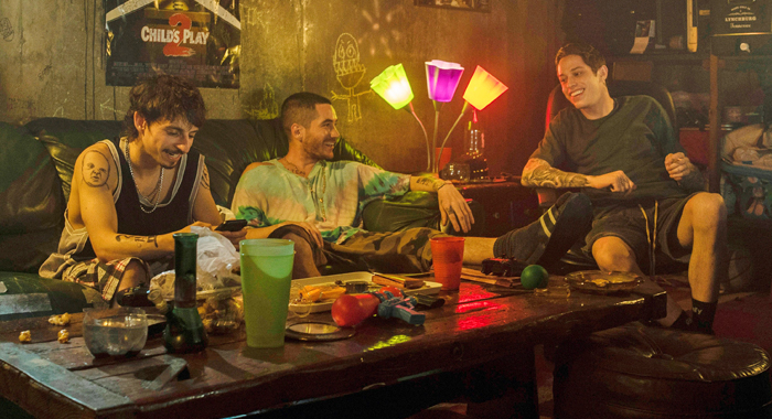 Moises Arias, Ricky Velez, and Pete Davidson in The King of Staten Island
