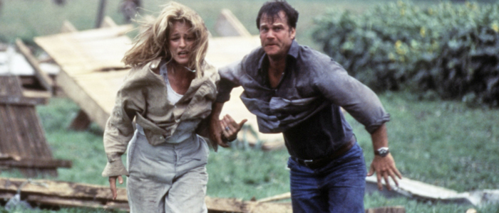 Helen Hunt and Bill Paxton in Twister
