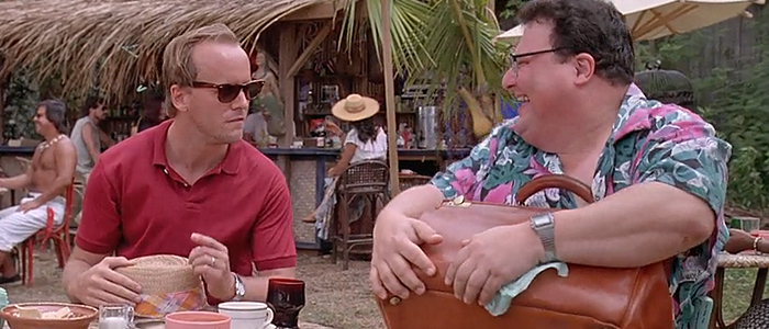Cameron Thor and Wayne Knight in Jurassic Park