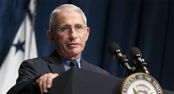 Dr. Anthony Fauci, Director of the National Institute of Allergy and Infectious Diseases on JUNE 26, 2020