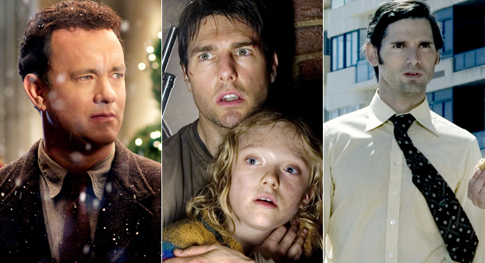 Tom Hanks in The Terminal, Tom Cruise and Dakota Fanning in War of the Worlds, and Eric Bana in Munich