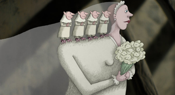 Test animation still from My Love Affair with Marriage