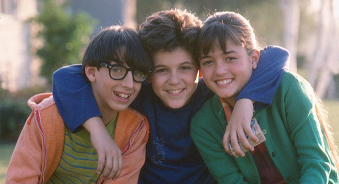 THE WONDER YEARS, from left: Josh Saviano, Fred Savage, Danica McKellar, Season 1