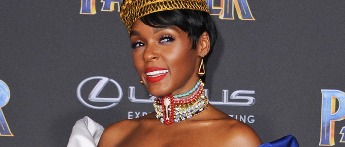 Janelle Monae at the premiere of Marvel's Black Panther