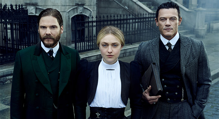 Daniel Brühl, Dakota Fanning, and Luke Evans star in The Alienst: Angel of Darkness