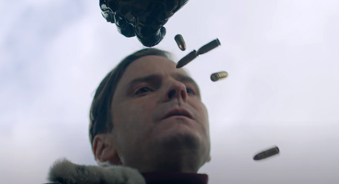 Daniel Bruhl in a screencap from Disney+ Super Bowl commercial