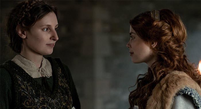Laura Carmichael and Charlotte Hope in The Spanish Princess season 1
