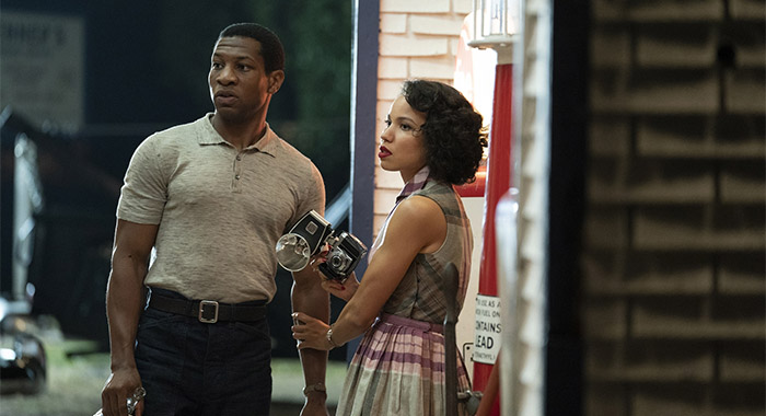Jonathan Majors and Jurnee Smollett in Lovecraft Country season 1