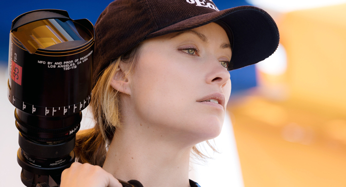 Olivia Wilde on the set of Booksmart