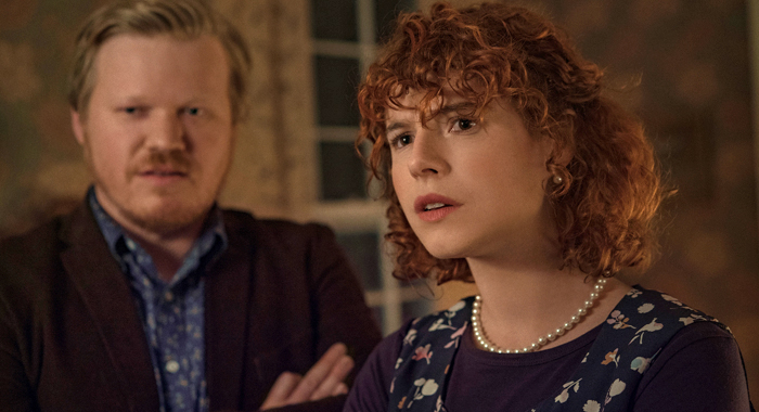 Jesse Plemons and Jessie Buckley in I'm Thinking of Ending Things