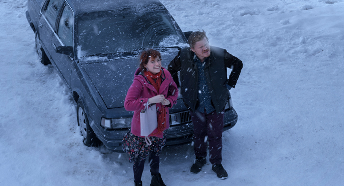 Jessie Buckley and Jesse Plemons in I'm Thinking of Ending Things