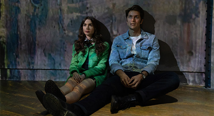 LILY COLLINS and LUCAS BRAVO in Emily In Paris season 1