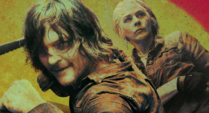 Melissa McBride and Norman Reedus in The Walking Dead season 10 keyart