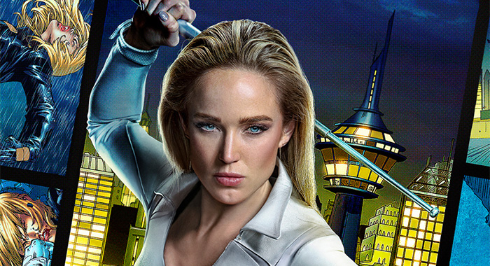 Caity Lotz in DC's Legends of Tomorrow 2021 promo poster