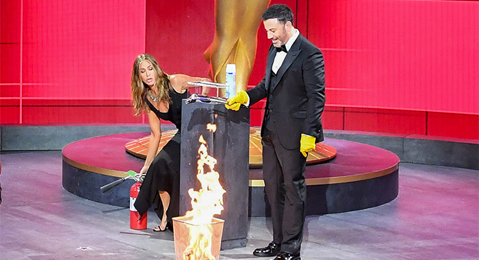 THE 72ND EMMY® AWARDS - Jimmy Kimmel, Jennifer Aniston