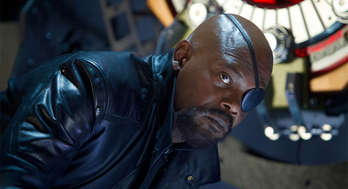 THE AVENGERS, Samuel L. Jackson as Nick Fury