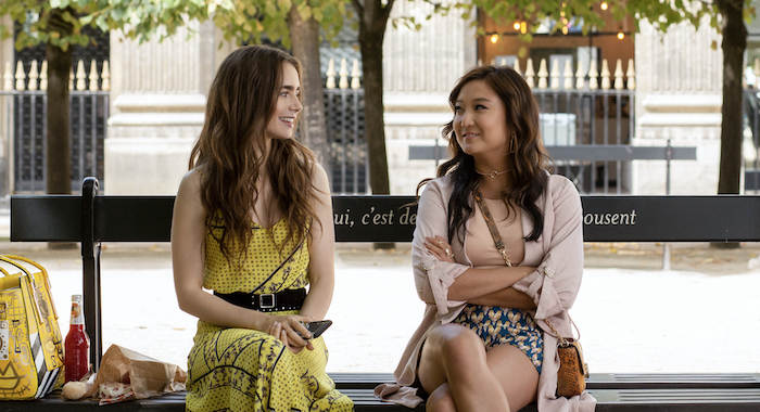 LILY COLLINS as EMILY and ASHLEY PARK in Emily in Paris