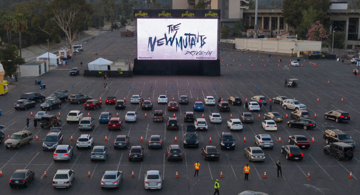 Drive-in theater showing The New Mutants
