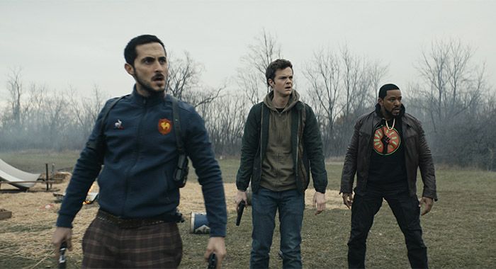 Tomer Capon, Jack Quaid, and Laz Alonso in The Boys season 2