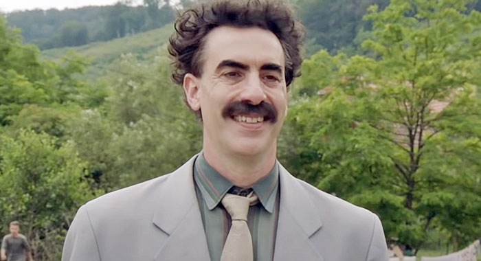 Sacha Baron Cohen in Borat: Subsequent Moviefilm