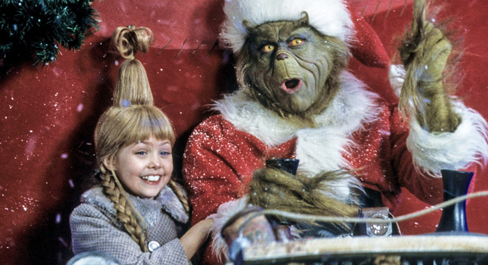 Taylor Momsen and Jim Carrey in How the Grinch Stole Christmas