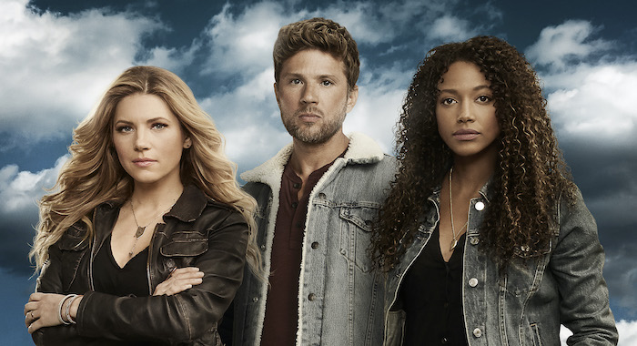 "BIG SKY - ABC's ""Big Sky"" stars Katheryn Winnick as Jenny Hoyt, Ryan Phillippe as Cody Hoyt, and Kylie Bunbury as Cassie Dewell. (ABC/Kharen Hill)"