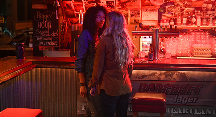 Kylie Bunbury and Katheryn Winnick in Big Sky