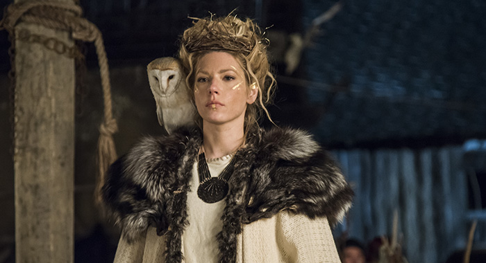 Vikings Katheryn Winnick as Lagertha in season 4