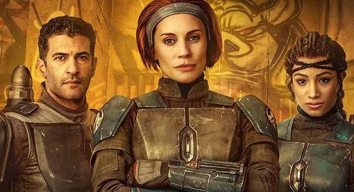 The Mandalorian Chapter 11 Nite Owls: Axe Woves (Simon Kassianides), Bo-Katan Kryze (Katee Sackhoff), Koska Reeves (Mercedes Varnado)
